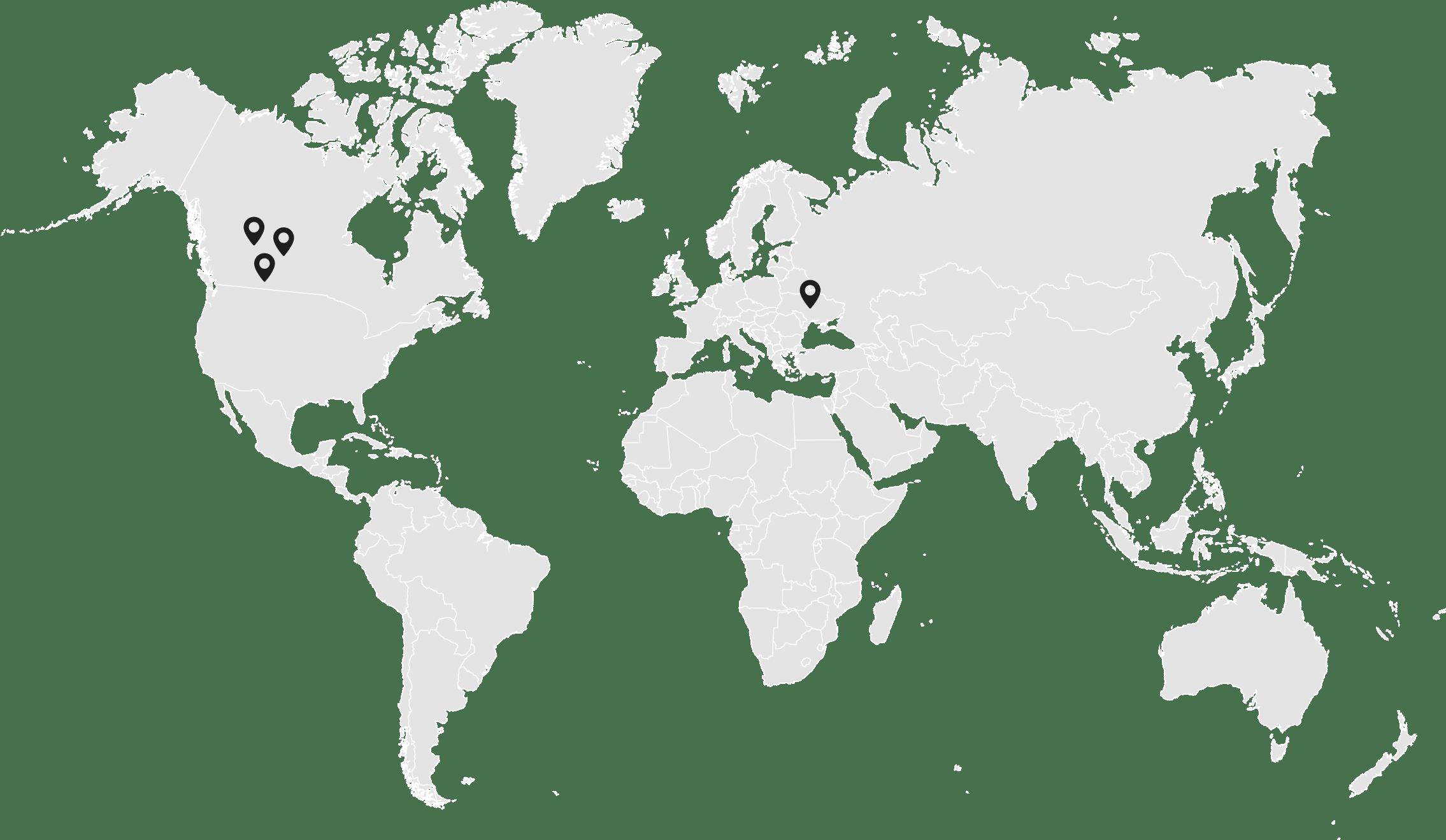 Grande Prairie, Edmonton, Calgary, Kyiv